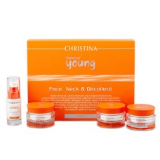 Forever Young Face, Neck & Decollete kit – Набор для лица, шеи и декольте, 4 препарата