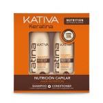 Набор укрепления шампунь + кондиционер с кератином для всех типов волос 2х100 мл, KERATINA, Kativa