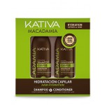 Набор интенсивного увлажнения кондиционер+шампунь для нормальных и поврежденных волос 2х100 мл, MACADAMIA, Kativ