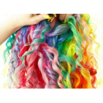 Цветная пудра для волос